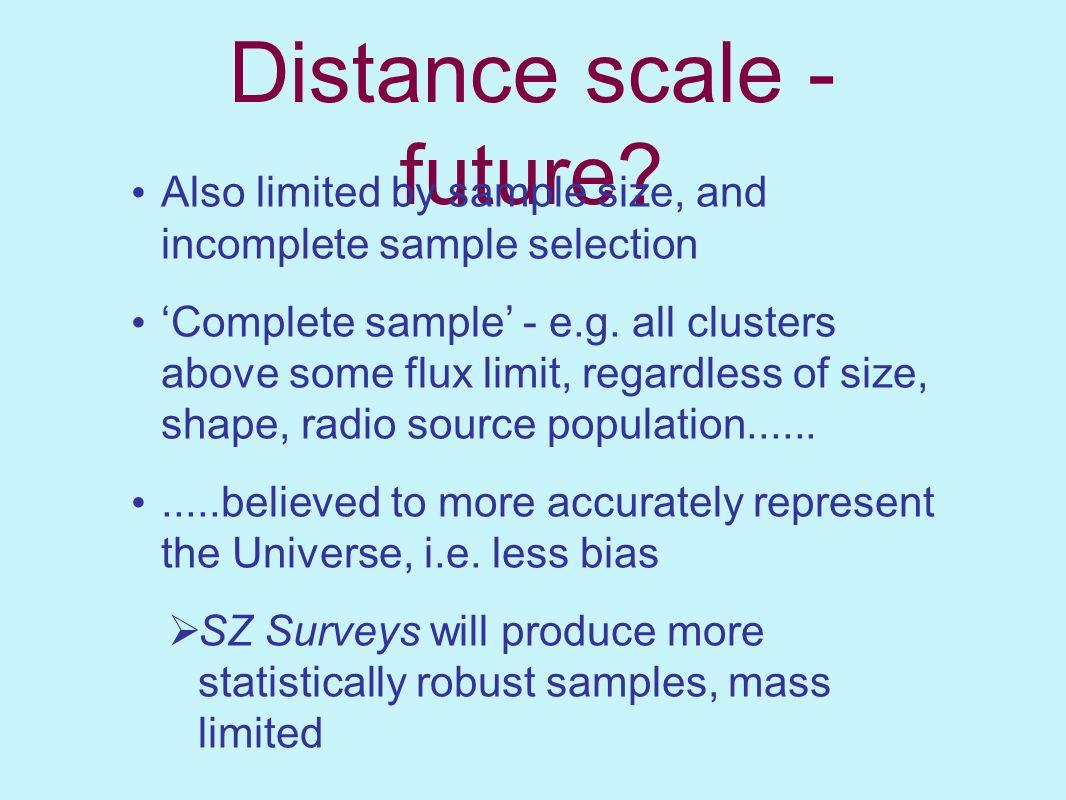 Distance scale - future