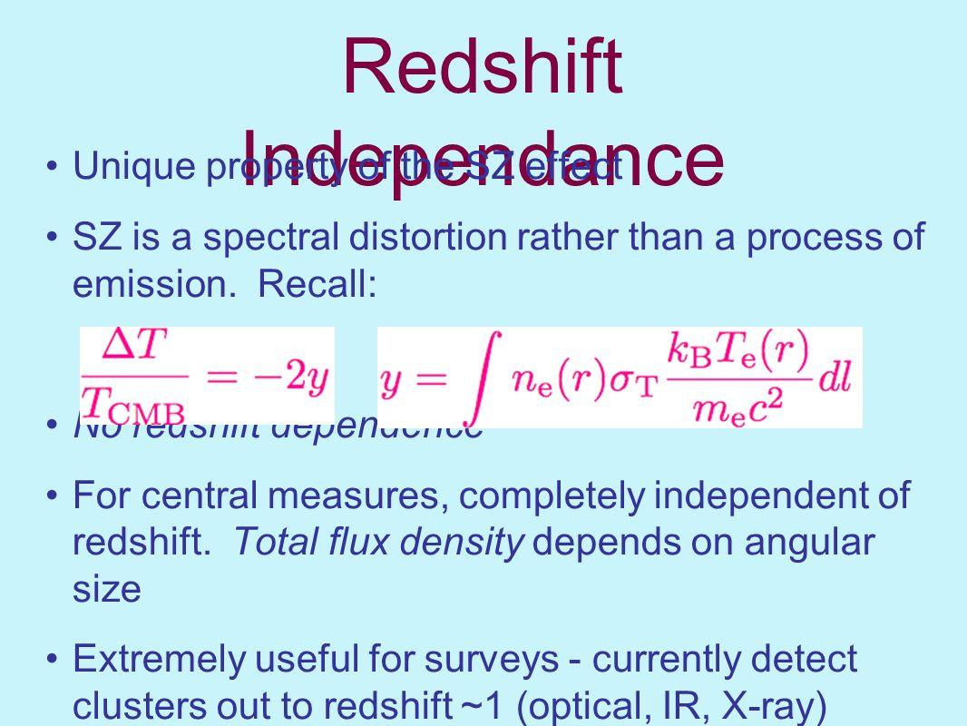 Redshift Independance