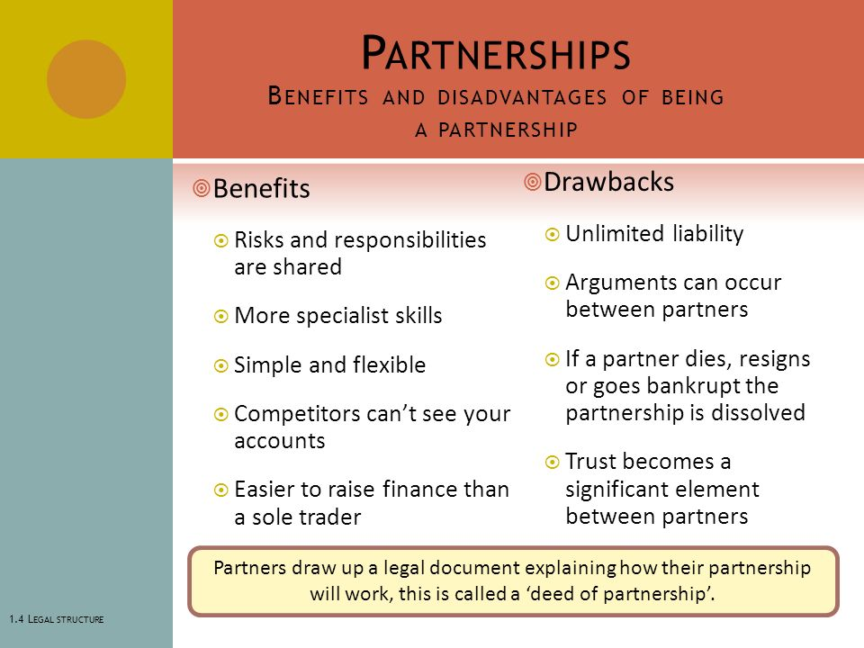 the advantages and disadvantages of partnering construction essay Advantages and disadvantages of partnering partnering is intended as a conscious move away from the construction partnering arrangements are as follows.