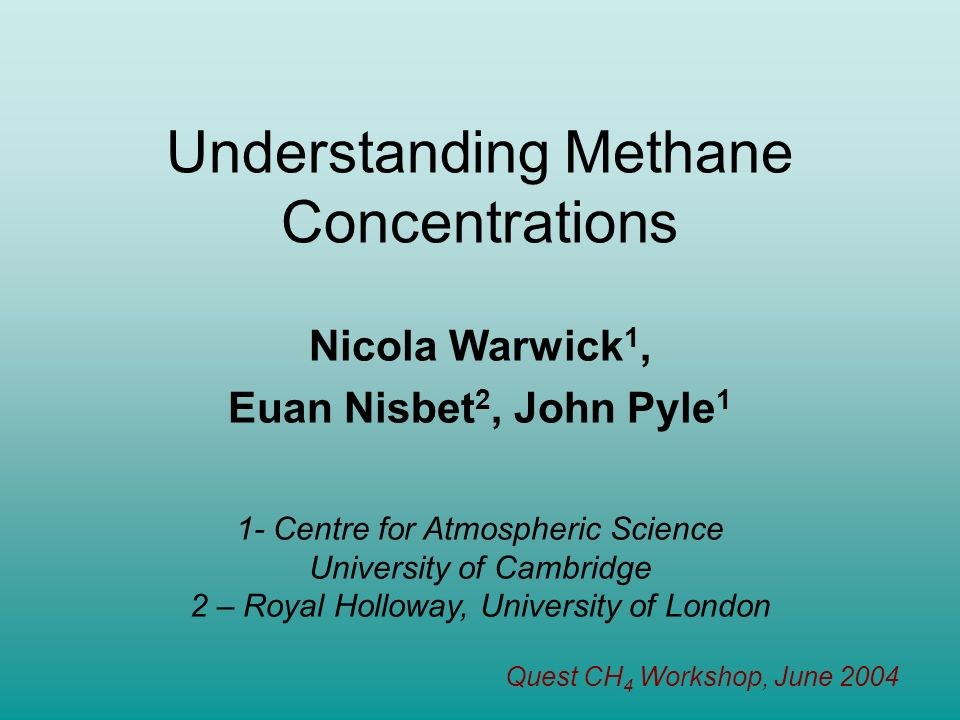Understanding Methane Concentrations