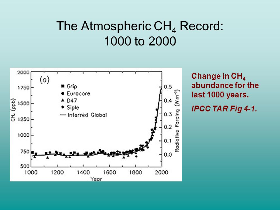 The Atmospheric CH4 Record: 1000 to 2000