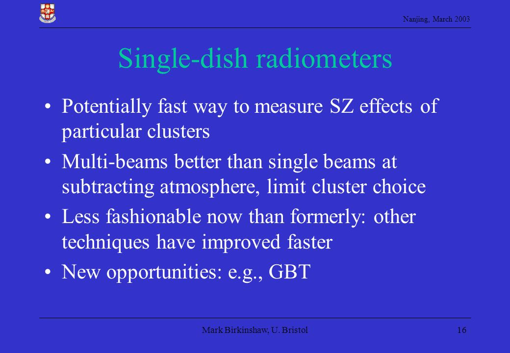 Single-dish radiometers