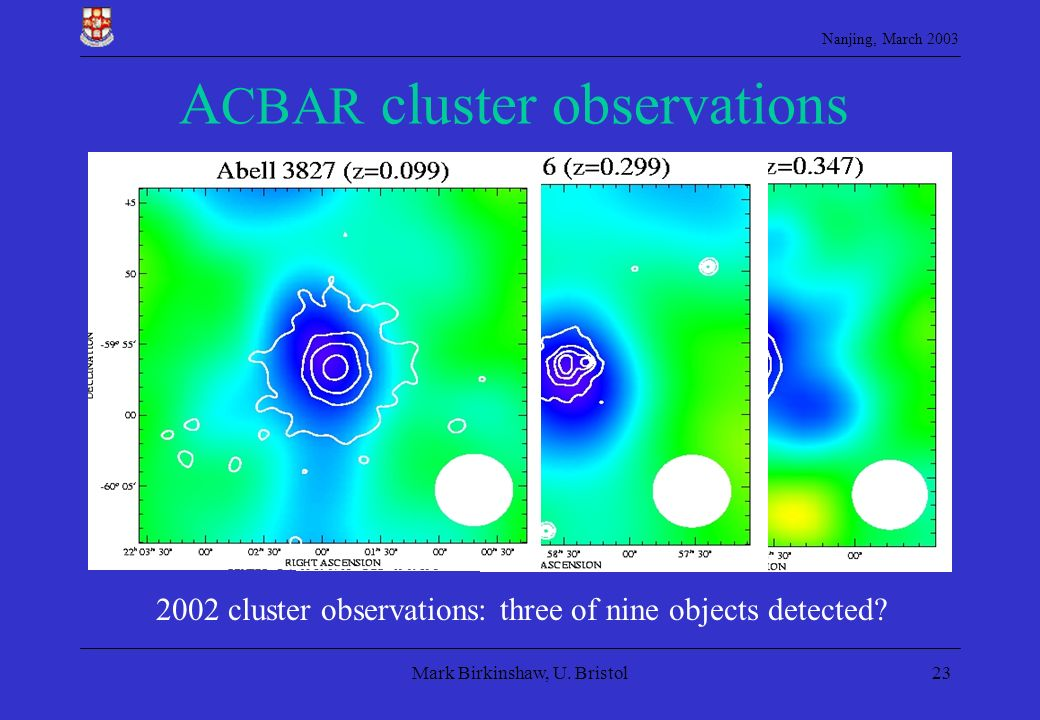 ACBAR cluster observations
