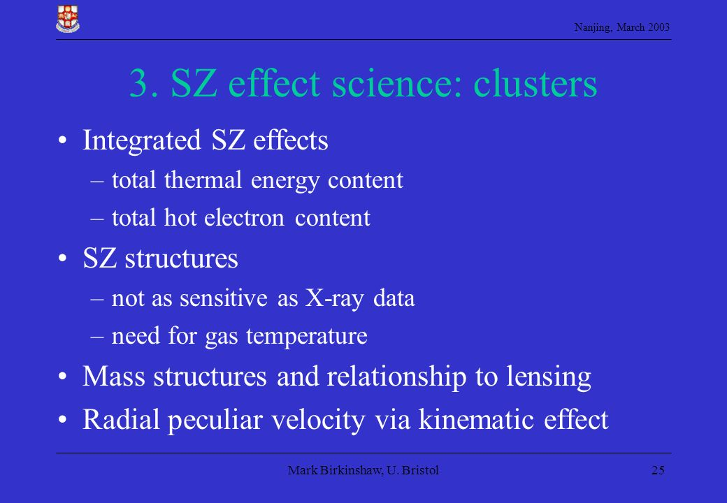 3. SZ effect science: clusters