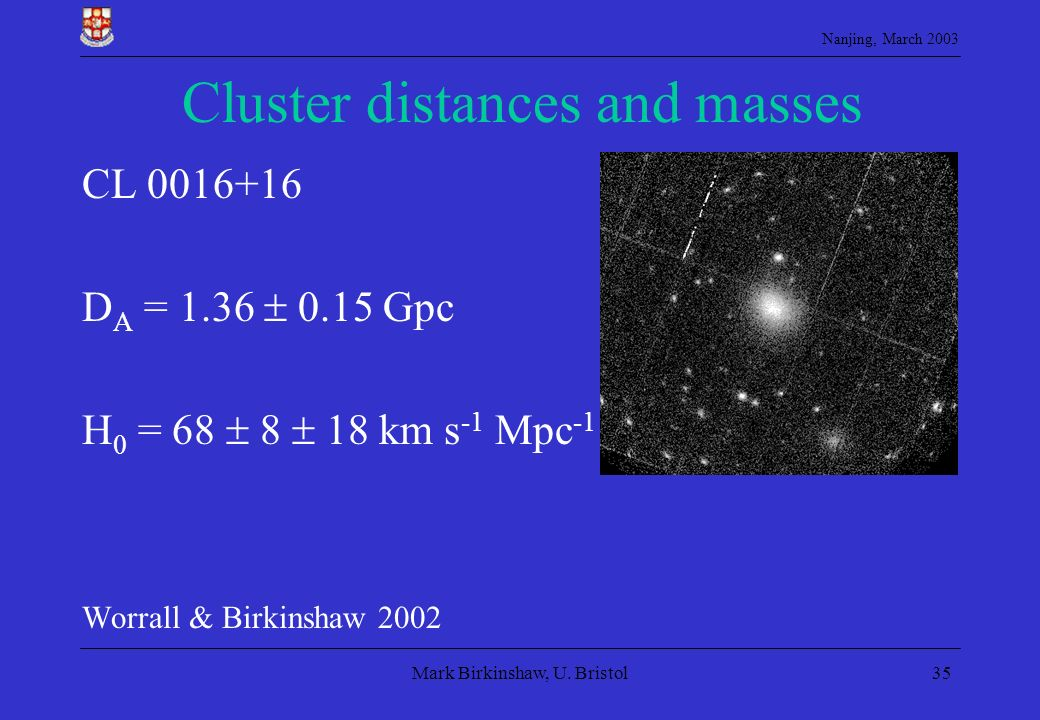 Cluster distances and masses