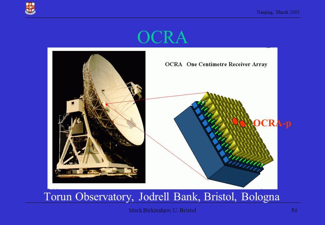 OCRA Torun Observatory, Jodrell Bank, Bristol, Bologna OCRA-p