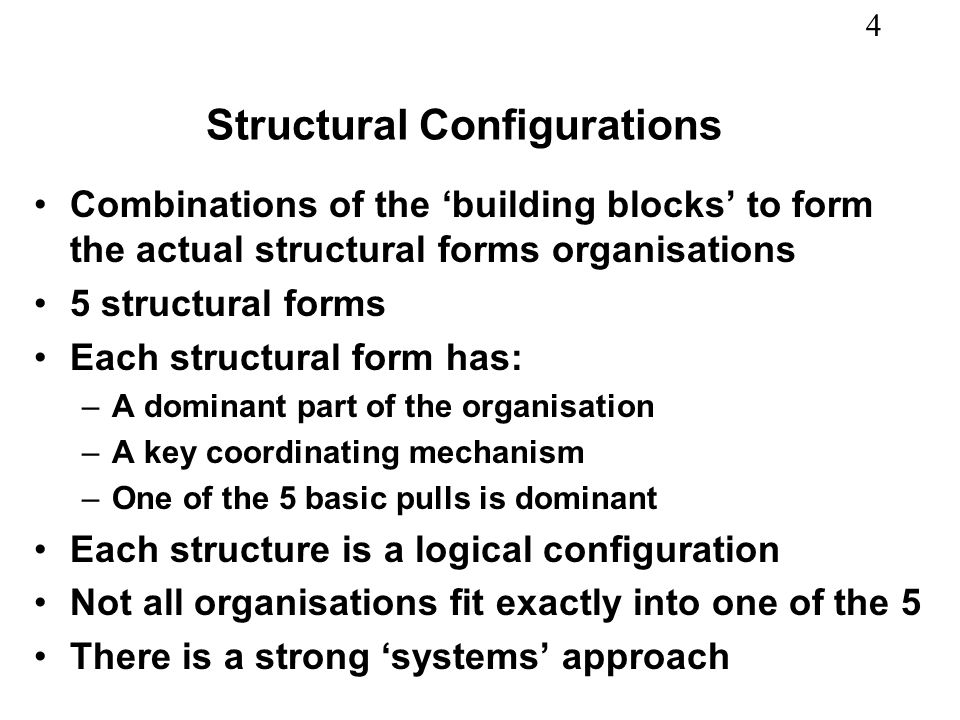 Structural Configurations