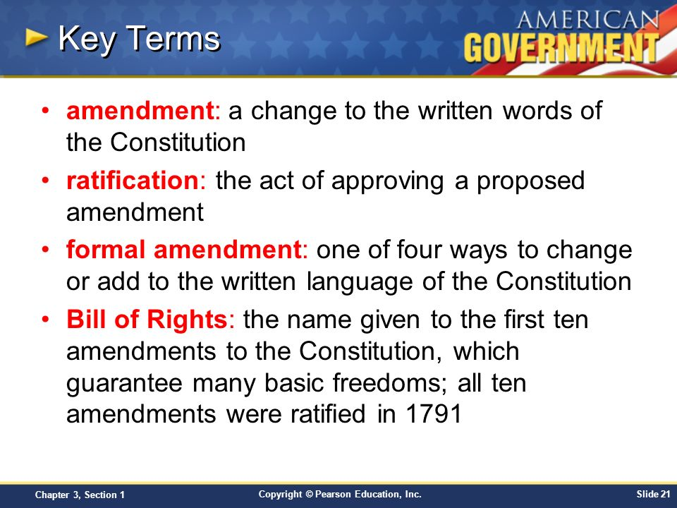 Chapter 3: The Constitution Section 1 - ppt download