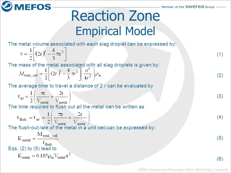 Reaction Zone Empirical Model
