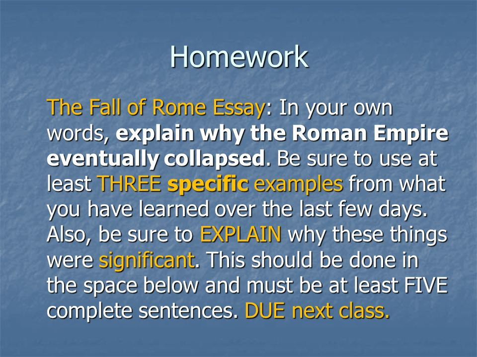 the fall of rome ppt video online  11 homework the fall