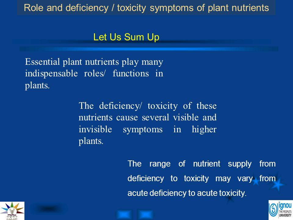 Deficiencies and toxicities