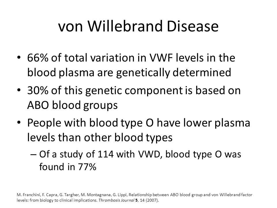 von willebrand disease is a genetic Von willebrand disease (vwd) is a condition that causes heavy or long-lasting bleeding find out about the symptoms, causes and treatments for it.