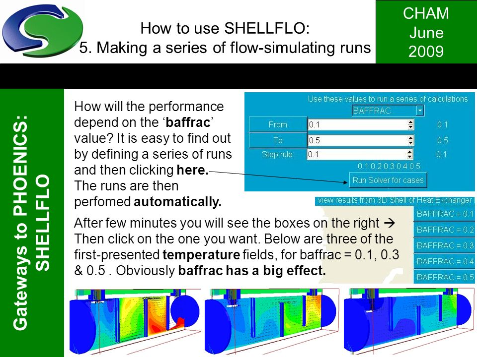 How to use SHELLFLO: 5. Making a series of flow-simulating runs