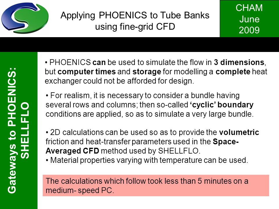 Applying PHOENICS to Tube Banks using fine-grid CFD