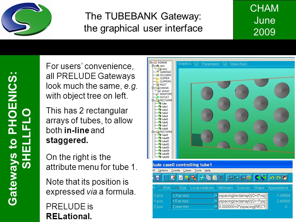 The TUBEBANK Gateway: the graphical user interface