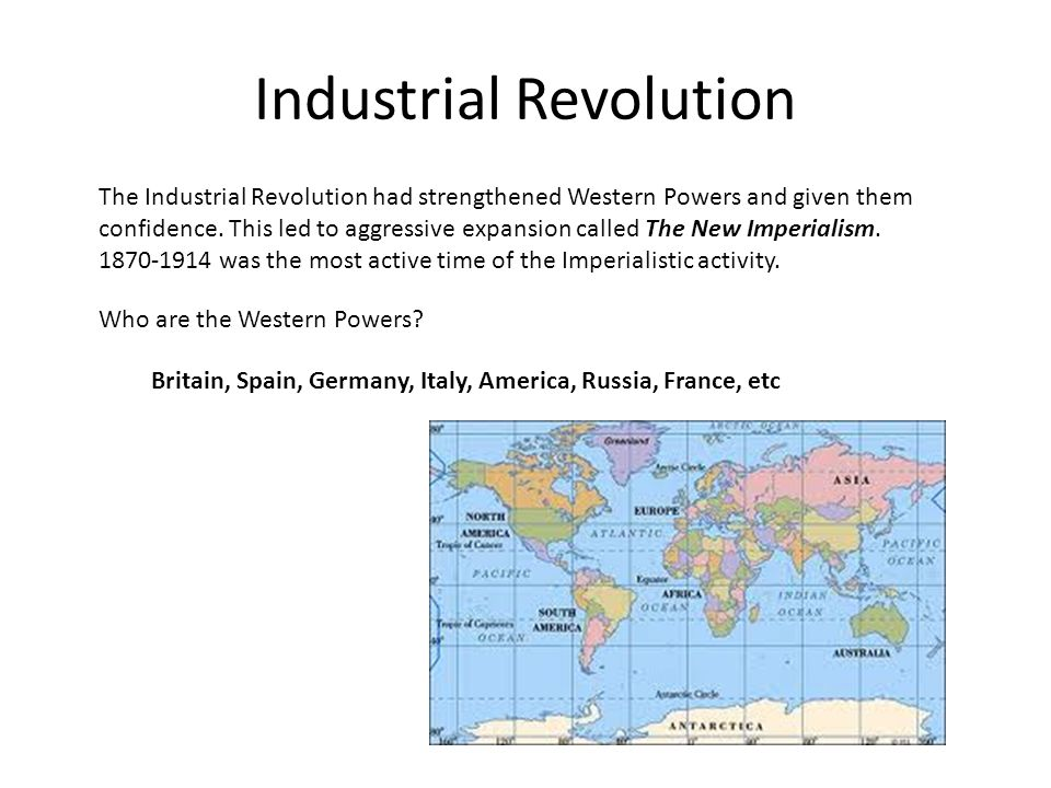 imperialism colonialism and industrial revolution Comparison questions  as both colonialism and imperialism means political and economic  europe's industrial revolution spanned from the 1790s to.