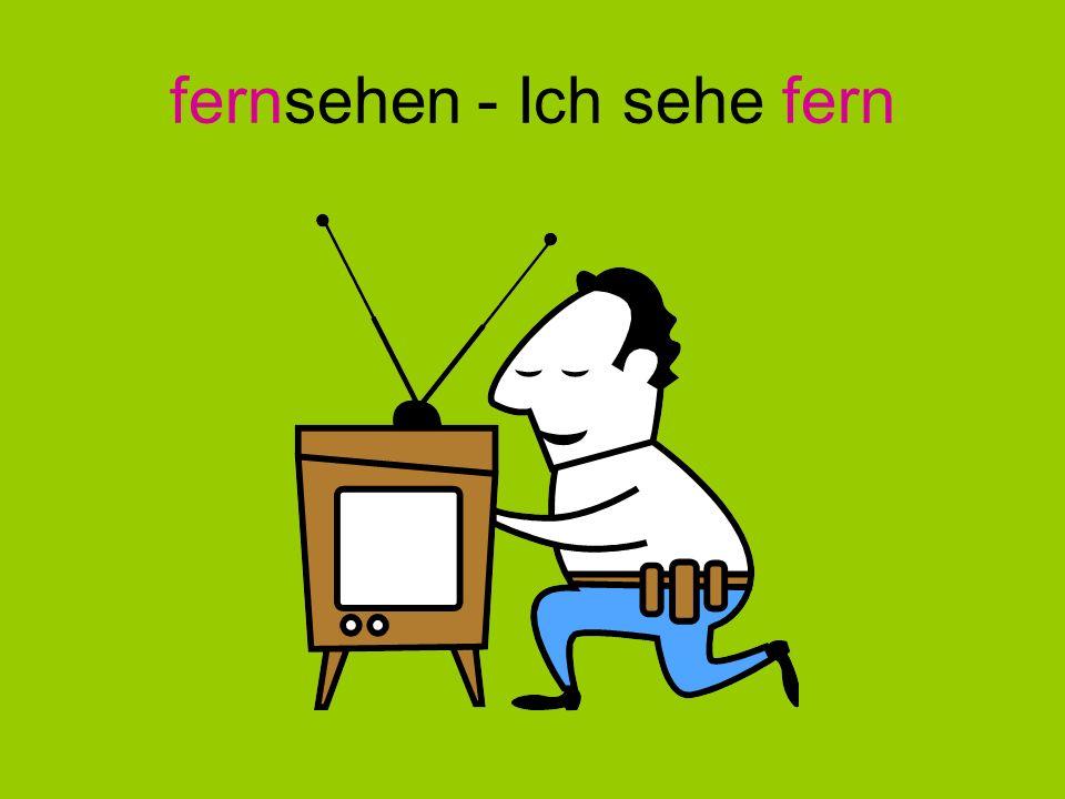 fernsehen - Ich sehe fern