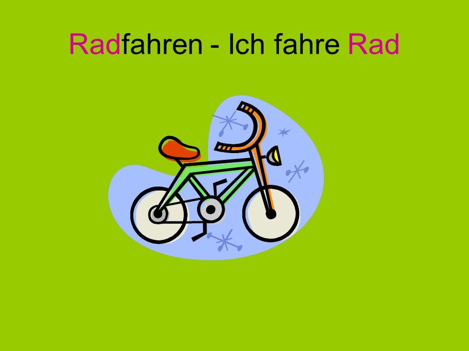 Radfahren - Ich fahre Rad