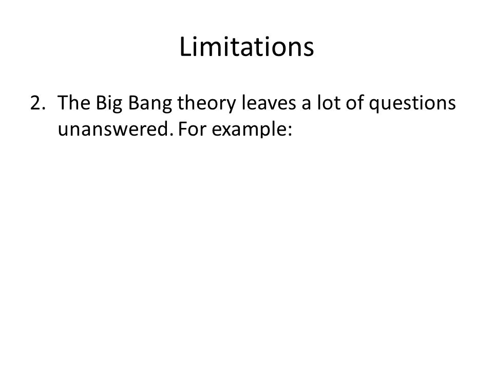 the big bang theory essay example The big bang theory does a remarkable job of describing the universe, as it is known today  , sample essays on big bang theory, the big bang theory essay example.