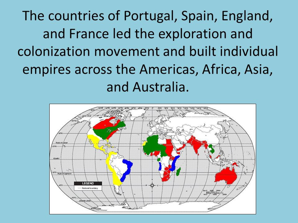 colonization across the globe During the process of european colonization, this process of enslavement and control was repeated throughout the new world indigenous peoples were enslaved and set to work producing commodities for export to the old world.