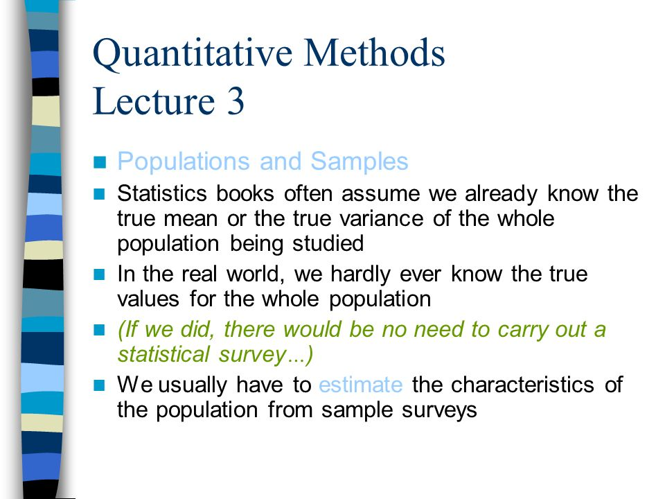 Quantitative Methods Lecture 3