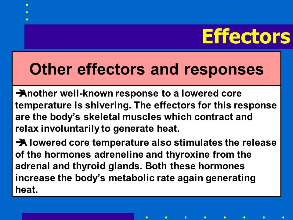 Other effectors and responses