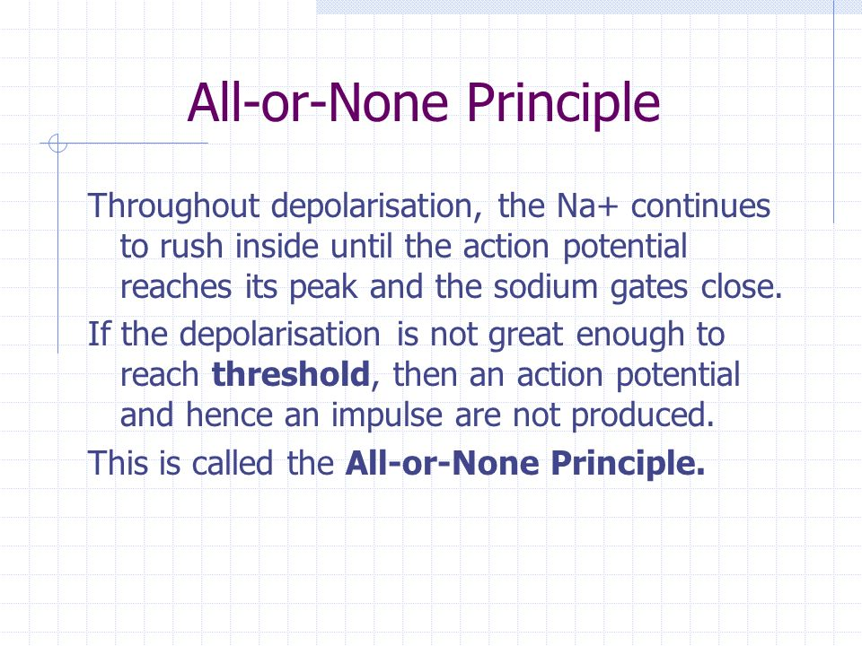 All-or-None Principle