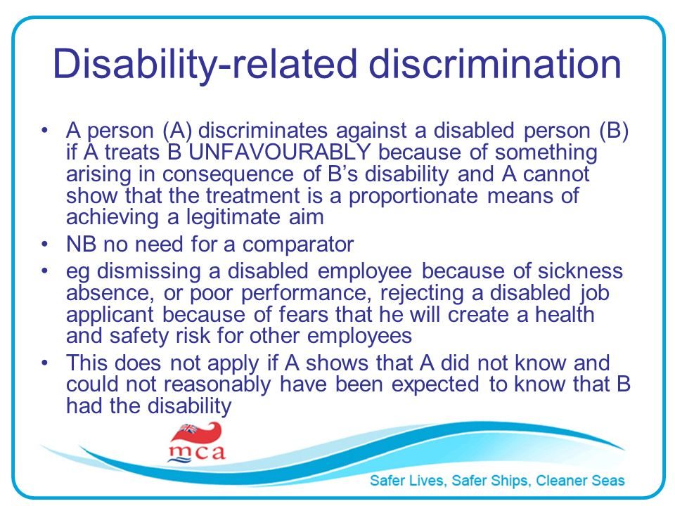 Disability-related discrimination