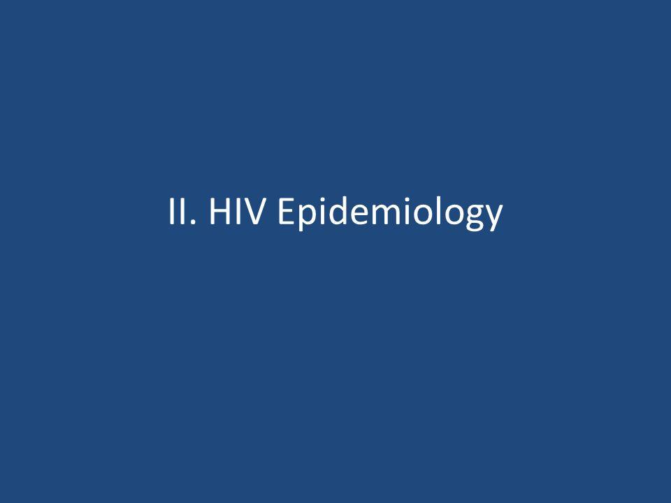 II. HIV Epidemiology