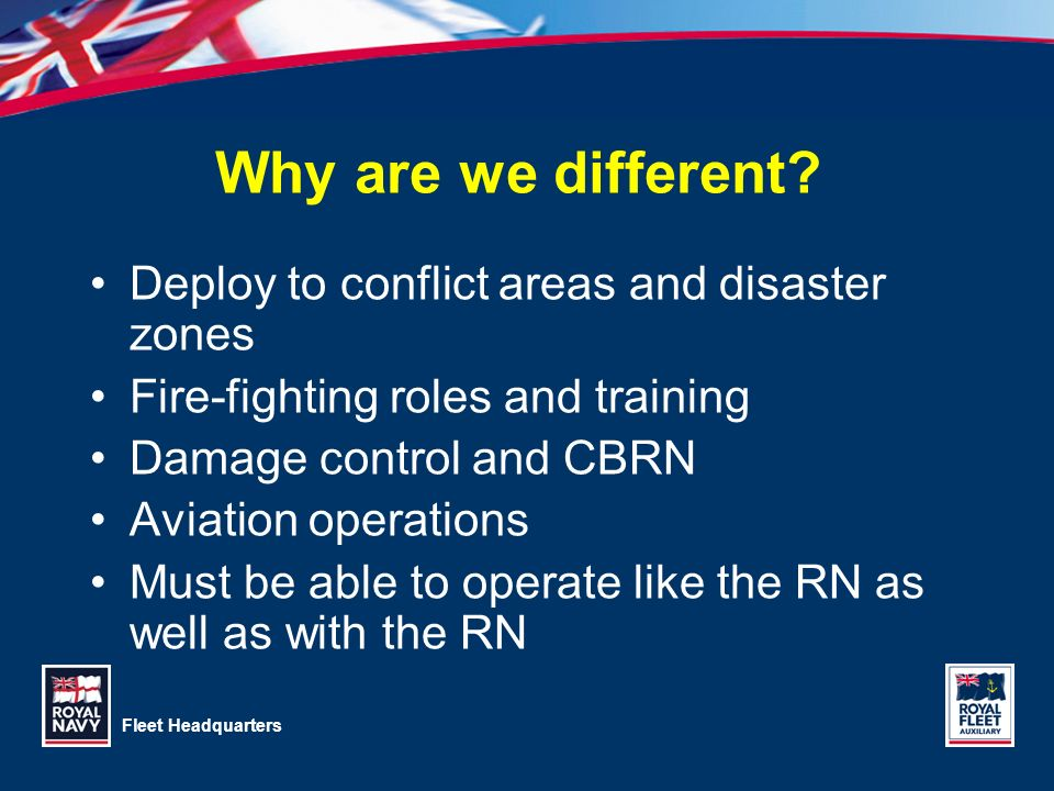 Why are we different Deploy to conflict areas and disaster zones