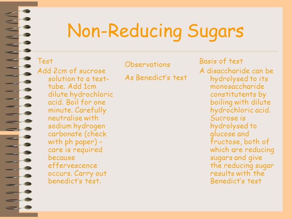 Non-Reducing Sugars Test