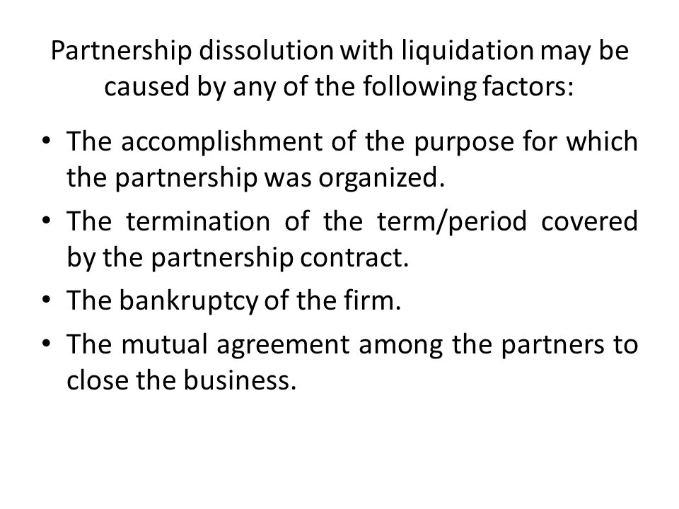 Partnership Liquidation  Ppt Download