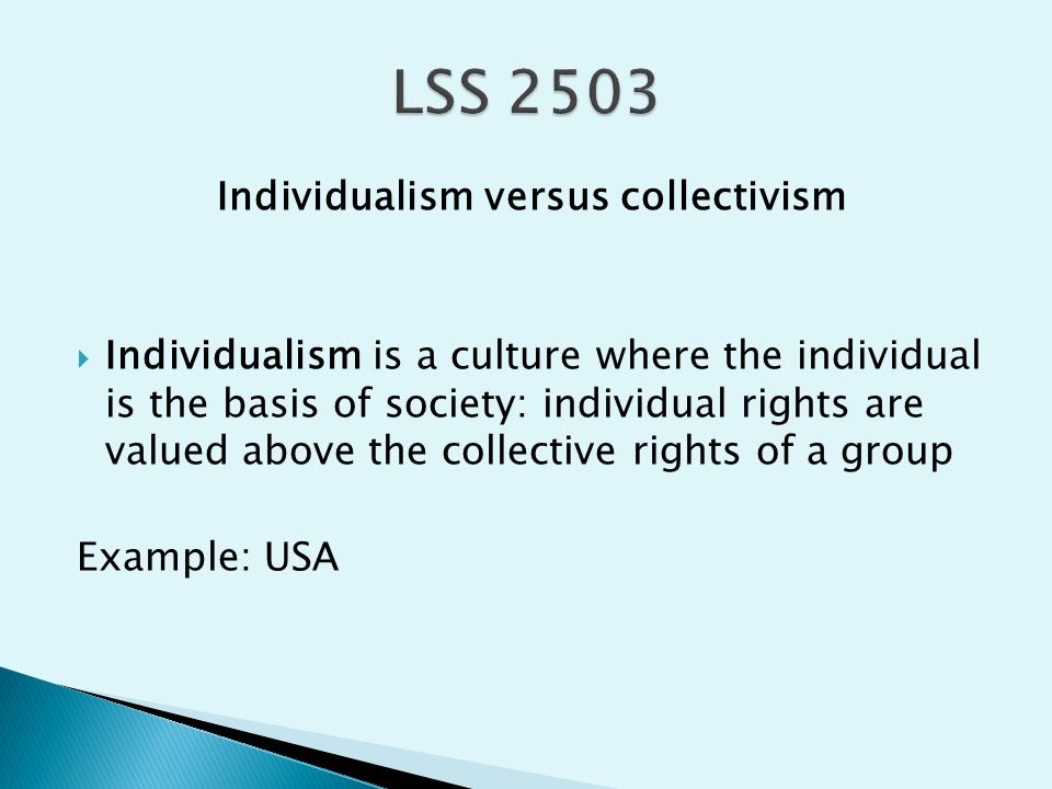 """individual rights versus cultural rights essay Human rights are essential to the full development of individuals and  communities  that spelled out the """"basic civil, political, economic, social and  cultural rights that  governments must not deprive people of a right or interfere  with persons."""