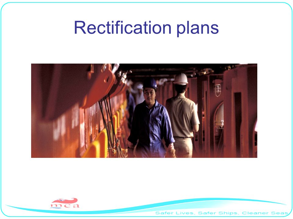 Rectification plans RP