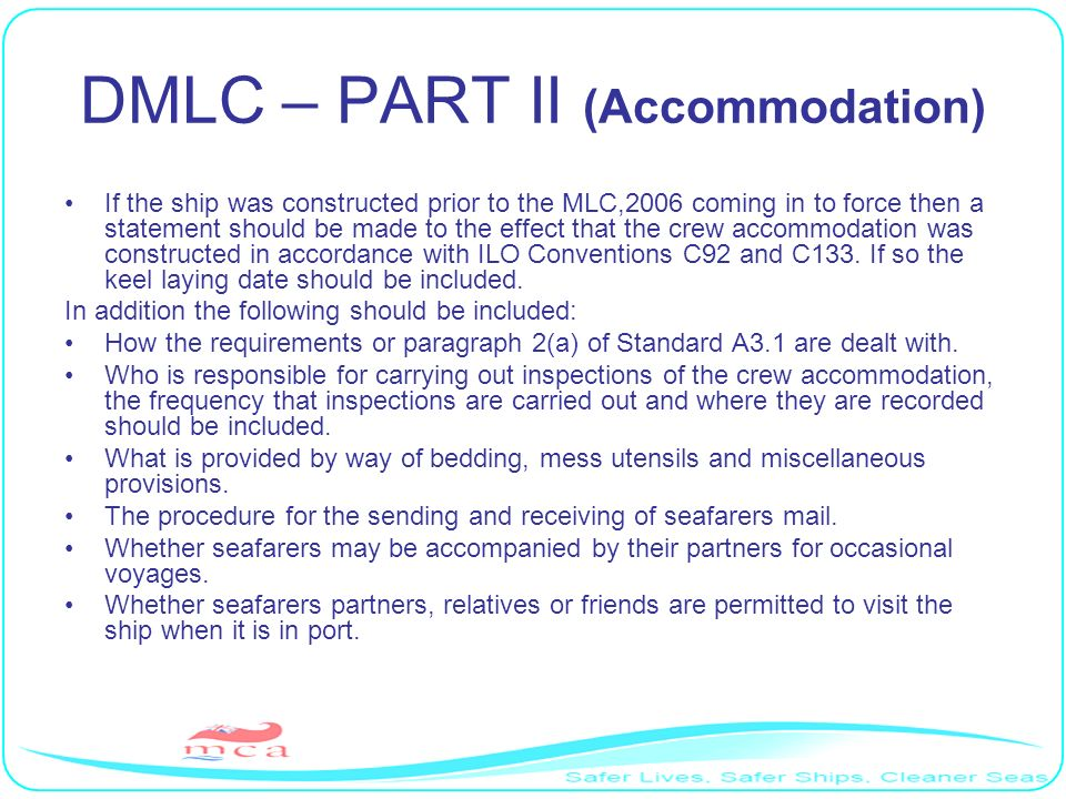 DMLC – PART II (Accommodation)