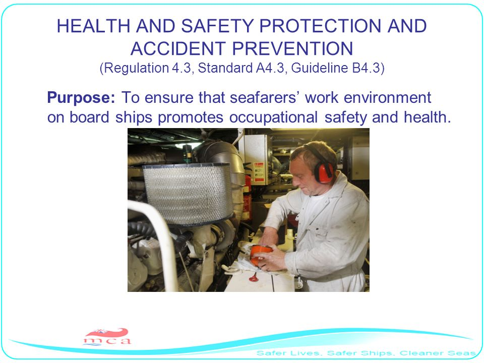 HEALTH AND SAFETY PROTECTION AND ACCIDENT PREVENTION (Regulation 4
