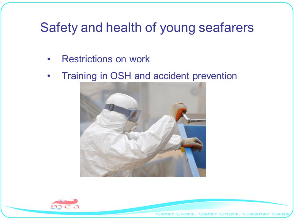 Safety and health of young seafarers