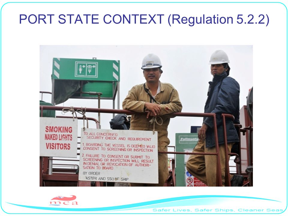 PORT STATE CONTEXT (Regulation 5.2.2)