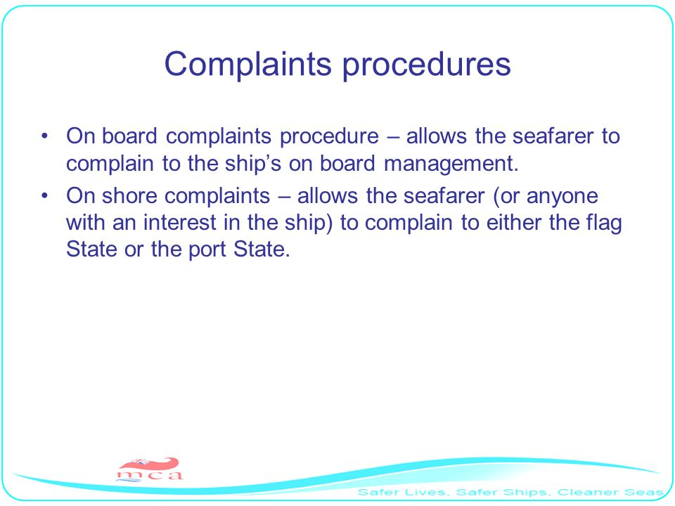 Complaints procedures