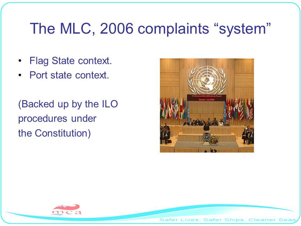 The MLC, 2006 complaints system