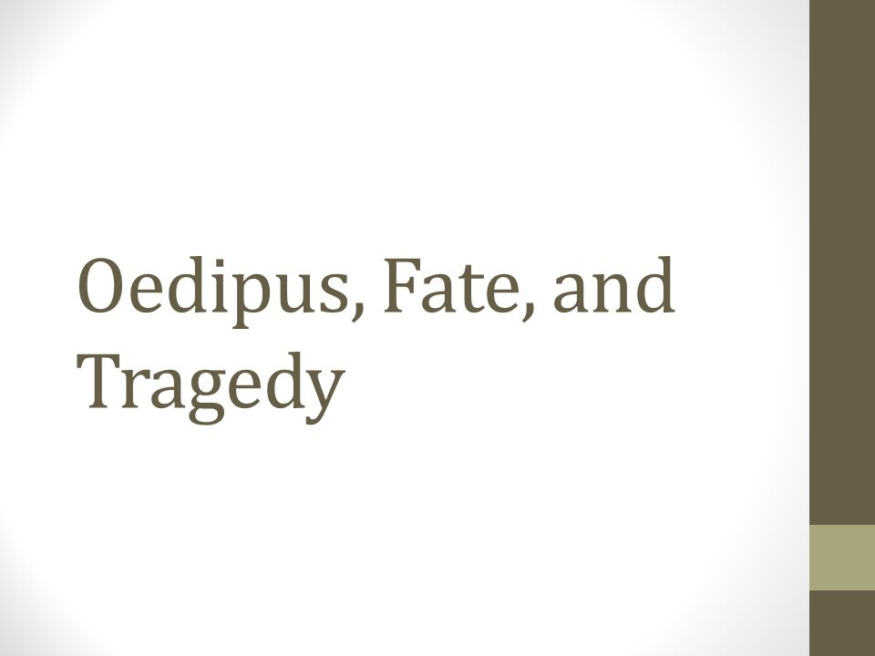 oedipus and fate
