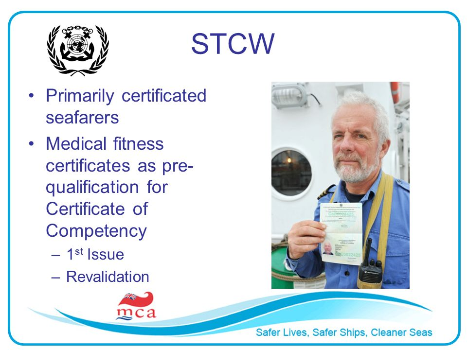 STCW Primarily certificated seafarers