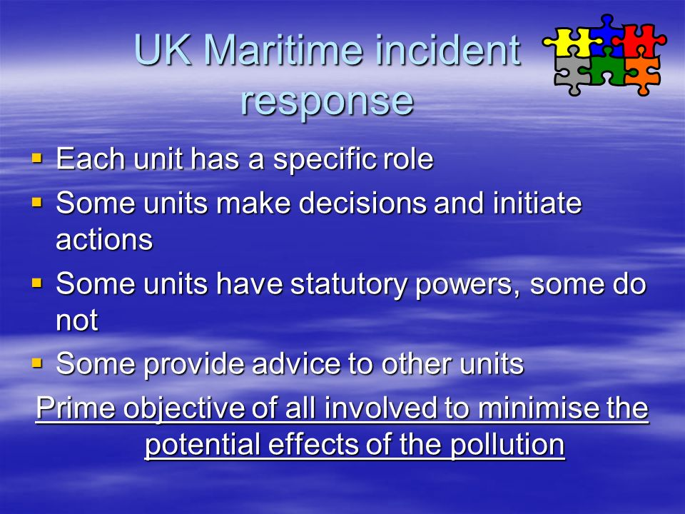 UK Maritime incident response
