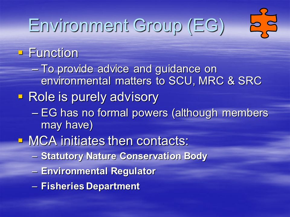 Environment Group (EG)