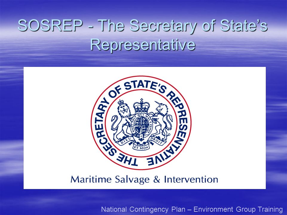 SOSREP - The Secretary of State's Representative