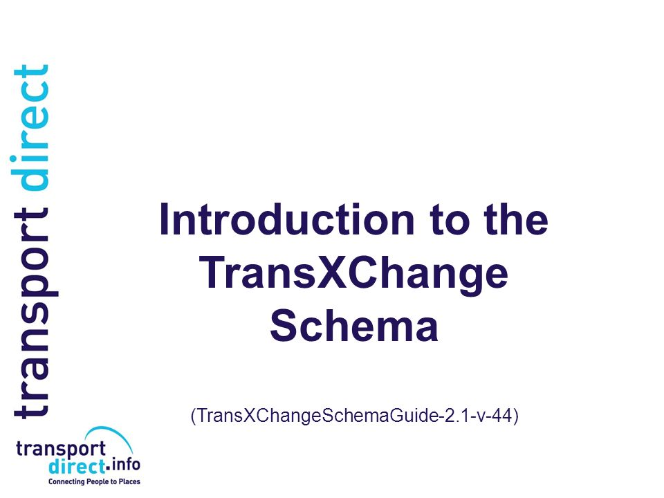 Introduction to the TransXChange Schema