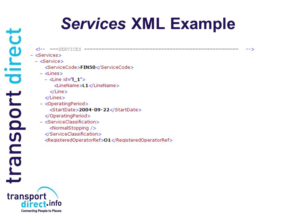 Services XML Example