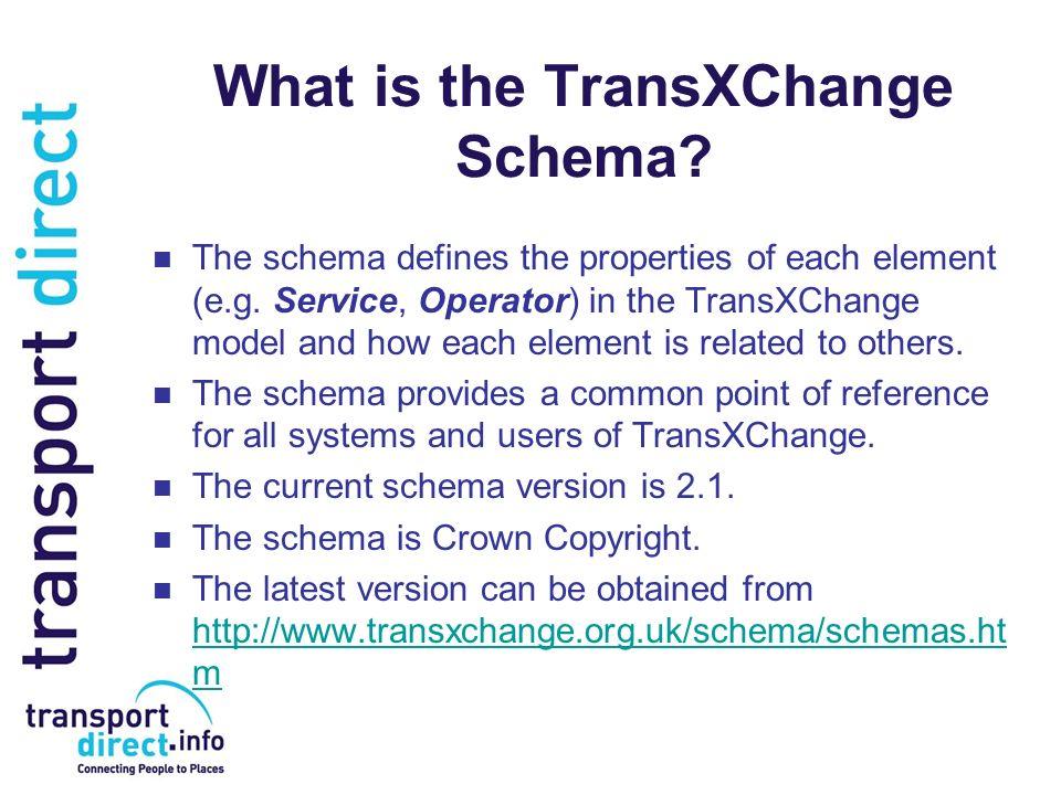 What is the TransXChange Schema