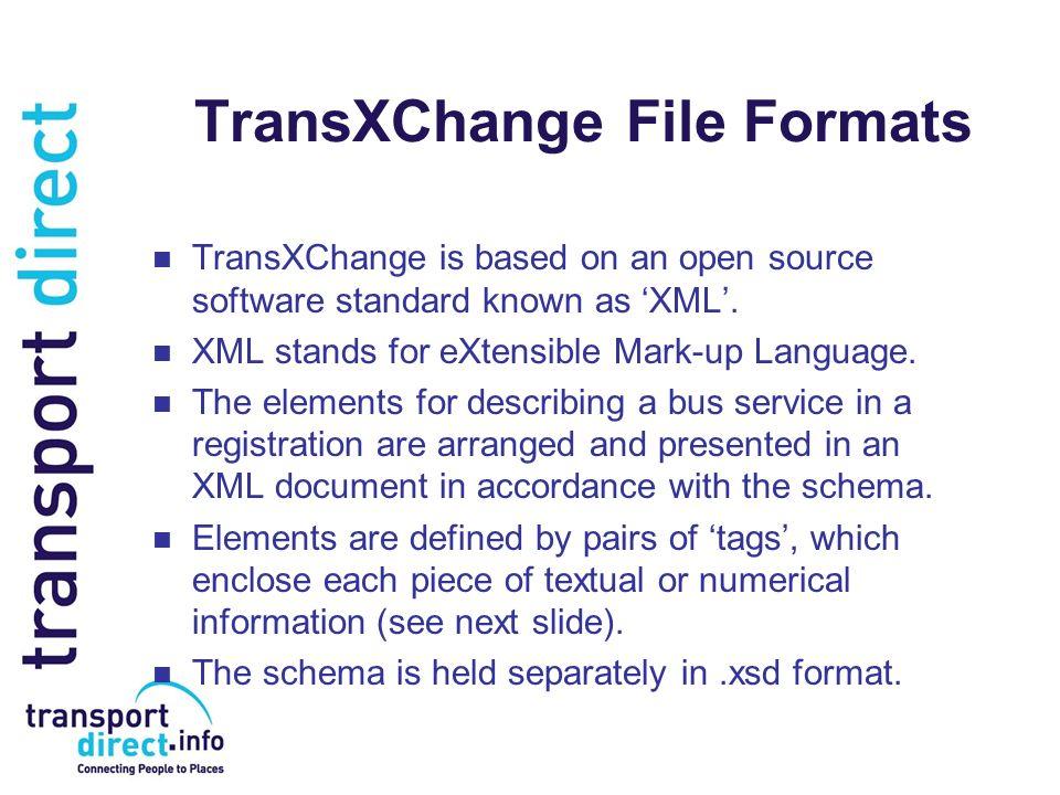 TransXChange File Formats