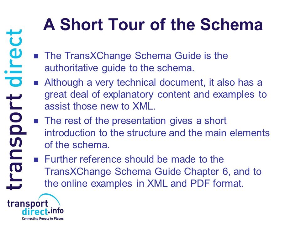 A Short Tour of the Schema